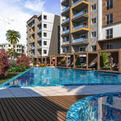 New Project in Kusadasi Two Blocks with Shared Pool