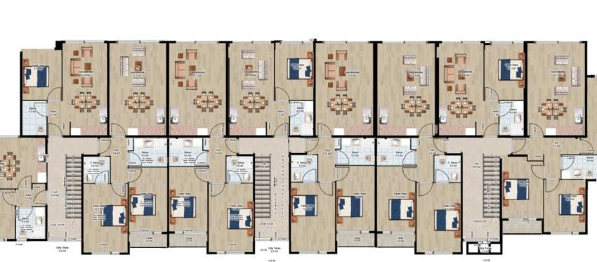 2 Bedroom New Apartment For Sale In Marina Kusadasi With Shared Pool For Sale Property Kusadasi Home