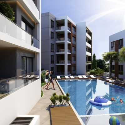 Kusadasi City Center Apartments with Pool and Sea Views