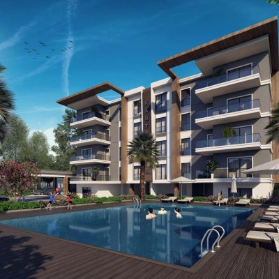 Contemporary apartment project with pool in Kusadasi center