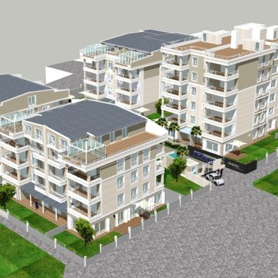 New residences for sale in the center of Kusadasi near the Marina