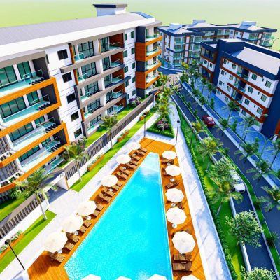 A choice of new residences in a community with facilities in Kusadasi